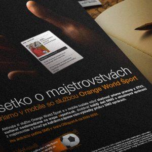 komunikácia osporte.sk pre spoločnosť Orange Slovensko | klient: Wiktor Leo Burnettt