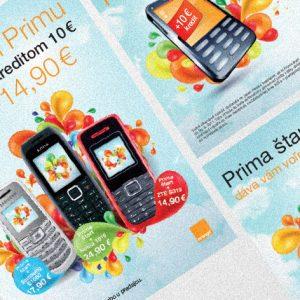 BTL komunikácia spoločnosti Orange Slovensko | Komunikácia hlasovej služby Prima | klient: Wiktor Leo Burnett