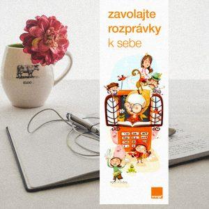 BTL komunikácia spoločnosti Orange Slovensko | komunikácia služby Rozprávky nazavolanie | Ilustrácie – Edita Sliacka | klient: Wiktor Leo Burnett