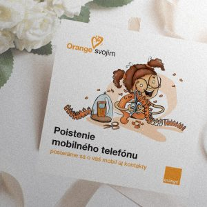BTL komunikácia spoločnosti Orange Slovensko | komunikácia služby Orange svojim | Ilustrácie – Edita Sliacka | klient: Wiktor Leo Burnett