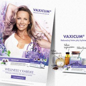 Wellness v kabelke | komunikácia prírodného relaxačného krému Vaxicum spoločnosti Wörwag | klient: agentúra Webster